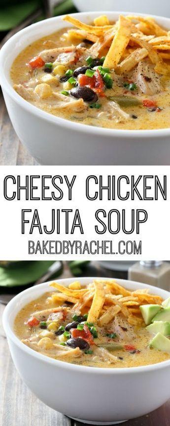 cheesy chicken fajita soup