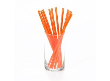 Pumpkin Orange Flexible Plastic Drinking Straws, Package of 12 - Perfect for the Korova Milk Bar | Whish.ca