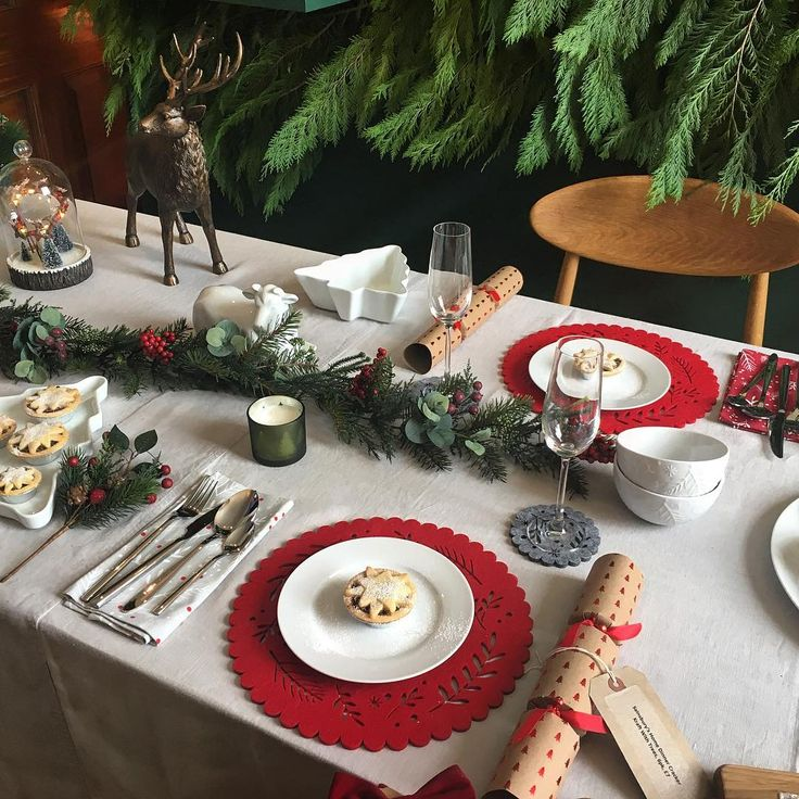 Sneak peak of @sainsburys' upcoming 2017 Christmas collection — featuring a cosy and traditional tabletop display #sainsburychristmas #christmas17 #tabletopdecor #traditional