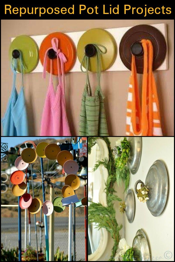Repurposed Pot Lid Projects