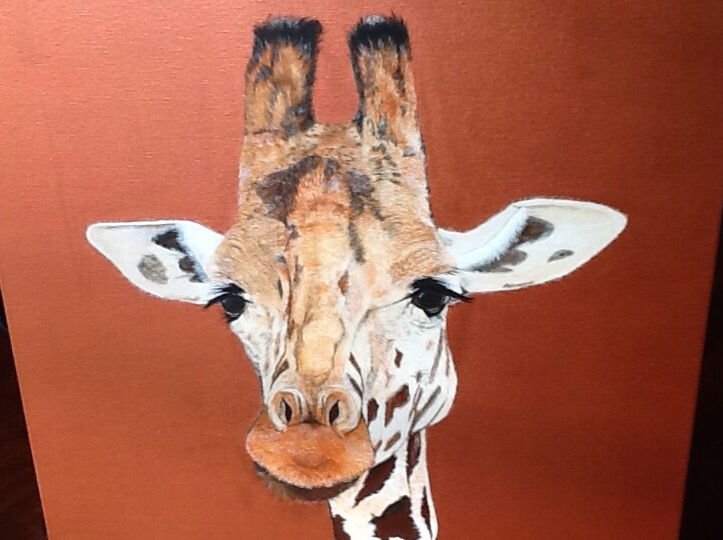 Giraffe acrylic on canvas   On exhibition Arvys Gallery Olinda  sold Take a look at my web site (www.artonpartridge.wix.com/artist)