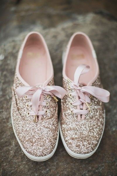 Bridal shoe idea - sequin Kate Spade sneakers {Relic Photographic}