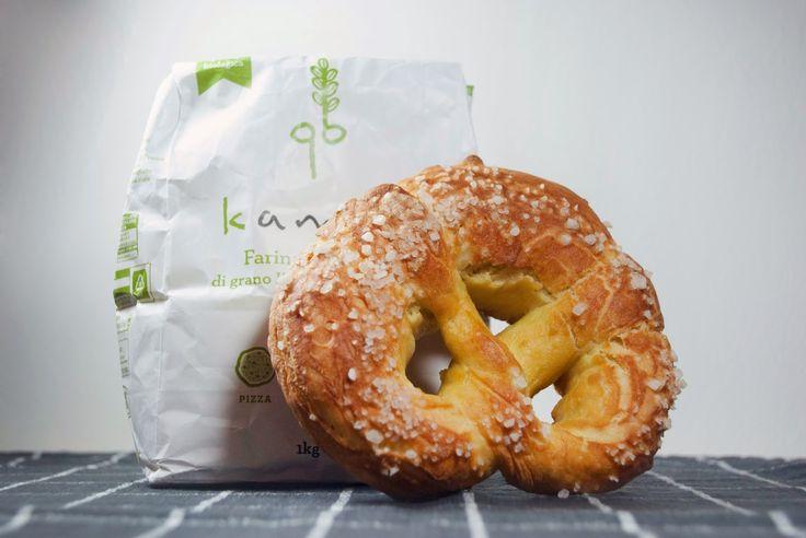 Bretzels (o pretzels) con farina di kamut