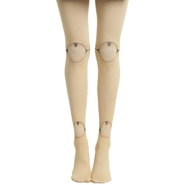 Blackheart Doll Leg Tights Hot Topic ($10) ❤ liked on Polyvore featuring intimates, hosiery, tights, tan tights, nylon hosiery, nylon stockings, tan stockings and nylon pantyhose