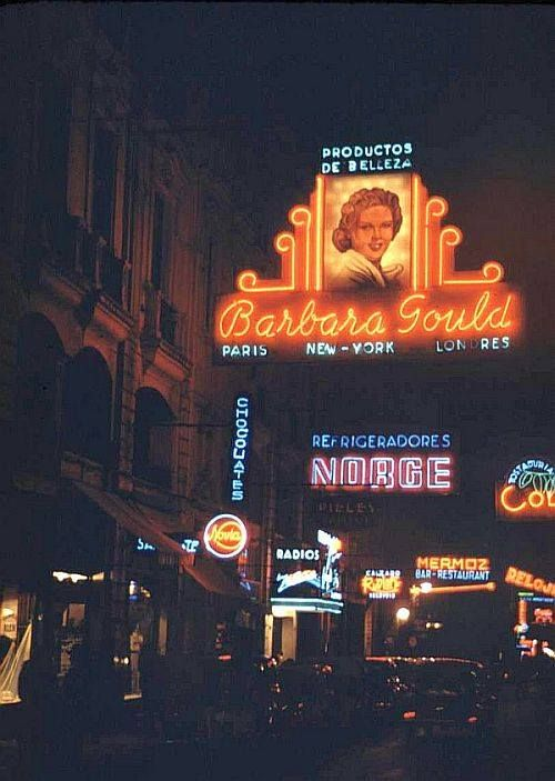 La noche en calle Huérfanos 1941