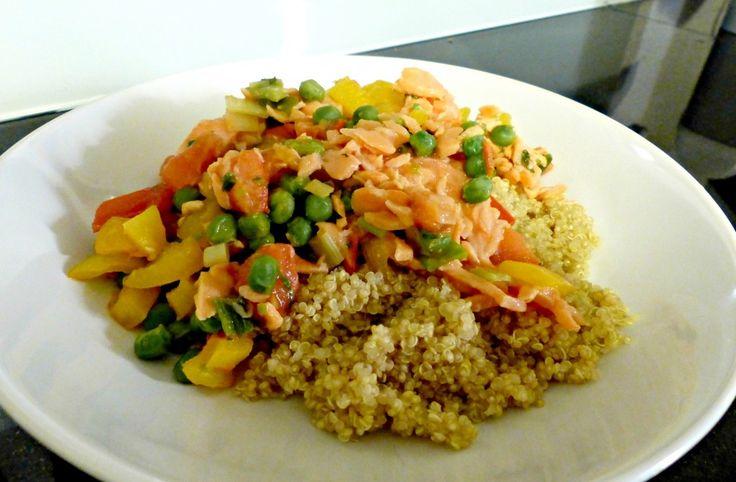Recept: Quinoa met Zalm, Doperwten en Paprika