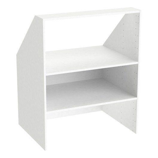 caisson sous comble blanc spaceo home x x cm id es pour la maison pinterest. Black Bedroom Furniture Sets. Home Design Ideas