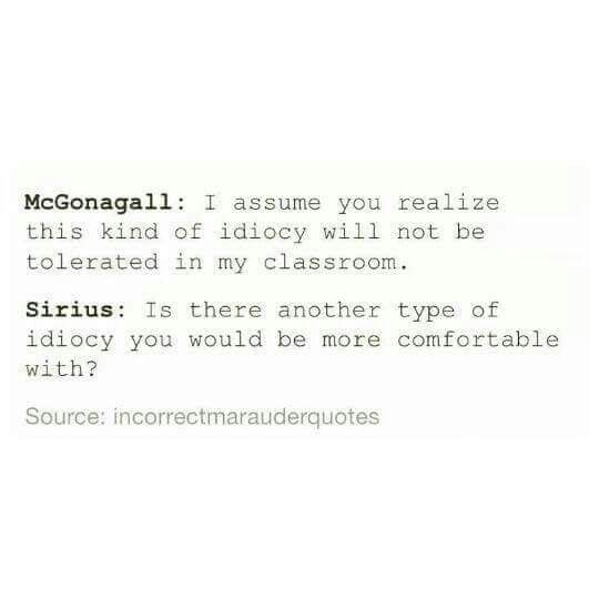 Sirius Black and Minerva McGonagall