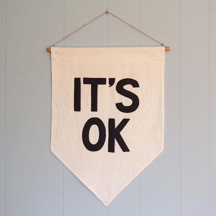 "Image of ""IT'S OK"" Affirmation Banner"