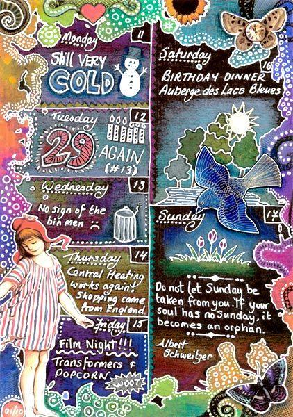 Art Journal Calendar Pages : Best images about art journal on pinterest