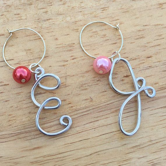 Set of 10 Wine Charms: Personalized Wine Charms by ZealandBoutique