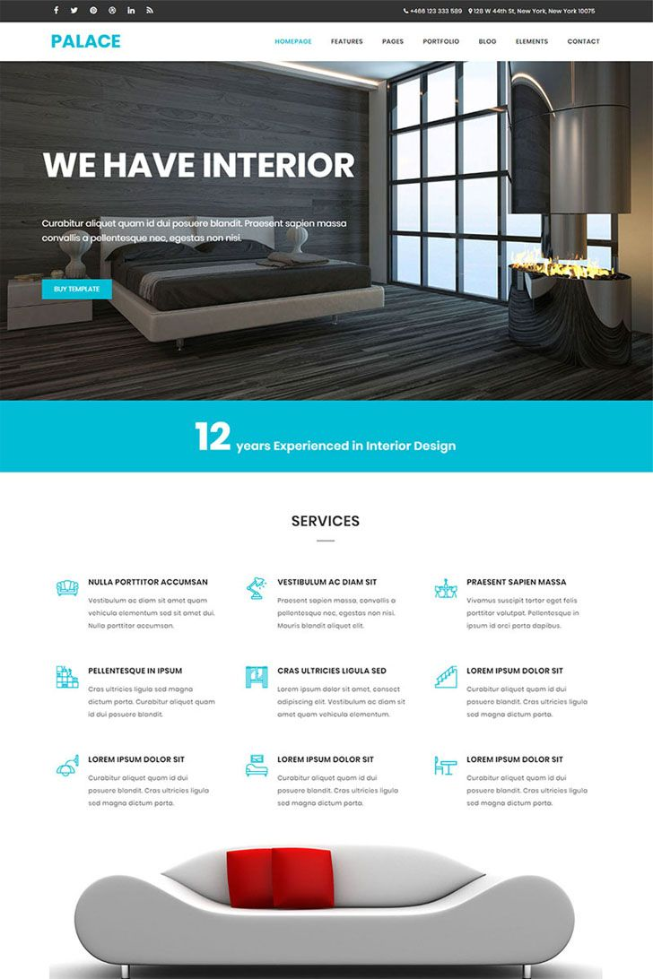 Palace Is A Bootstrap Based Interior Architecture Business Website Template It 100 Responsive All Browser Compatible This Also Perfect