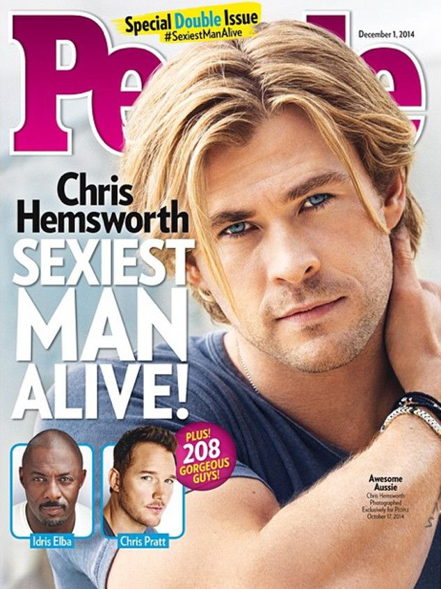100 best magazine covers images by morgan kyzar on pinterest chris hemsworth is people magazines sexiest man alive for 2014 publicscrutiny Gallery