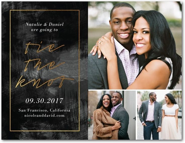 Make your save the date personal with a photo they'll love.