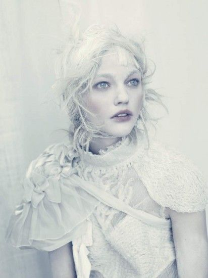 White Couture, Photographed by Paolo Roversi