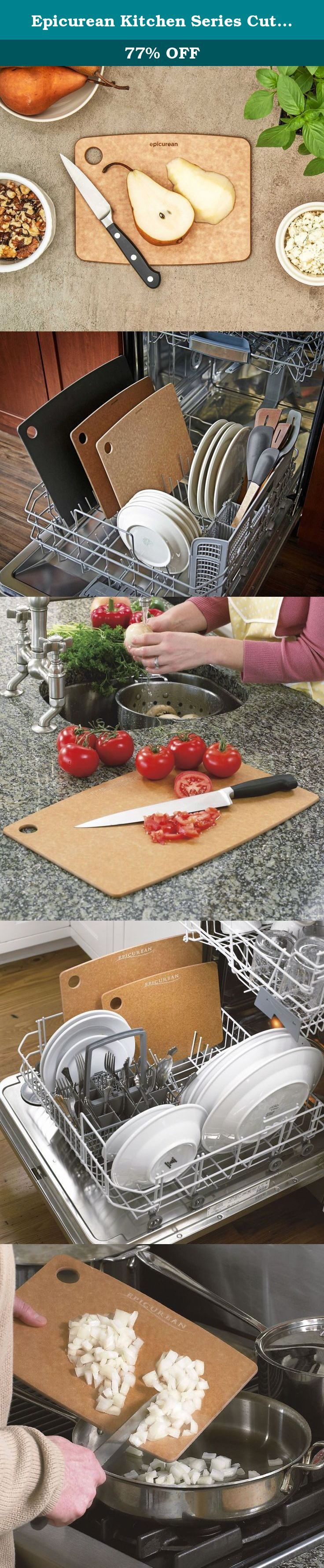 Epicurean Kitchen Series Cutting Board, 8-Inch by 6-Inch, Natural. Epicurean Cutting Surfaces are a practical and distinctive improvement from poly, glass and wood cutting boards. They have all of the best qualities and none of the bad-in one highly functional surface. Every design is thoughtfully detailed for functionality in use, clean up and storage. This Epicurean Cutting board is designed to fit in the dishwasher and is NSF approved, so that you can be assured that they will be easy…