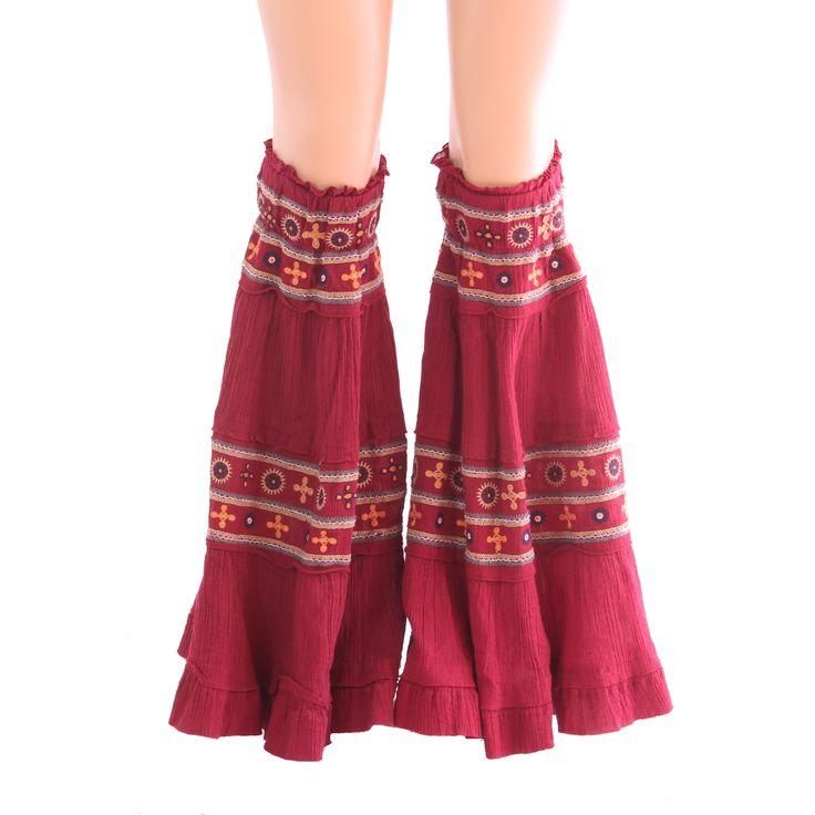 Maroonish Red Yoga Dance Leggings