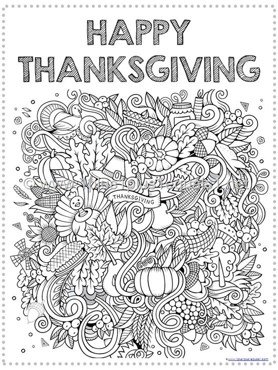 thanksgiving coloring page - Coloring Pictures Thanksgiving