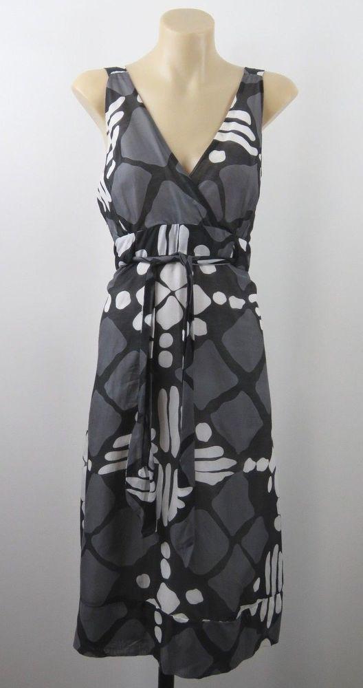 Size L 14 Ladies Sun Dress Silk Blend Office Boho Chic Casual Cocktail Design #DavidHouse #ALineDress #Casual