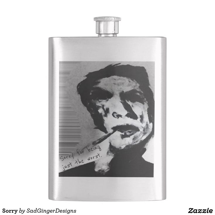 Sorry Flask #darkart #art #drawing #illustration #funny #gingerart #mixedmedia #hipster #sadgingerdesigns #greetingsfromasadginger #greetingcards #specialoccasions #sorry #apology #flask #apologyflask