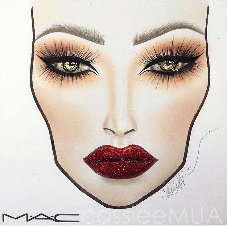 ponad 1000 pomys�243w na temat mac face charts na