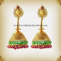 Fancy Gold Designer Jhumkas