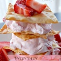 Wonton Strawberry Stacks from: Table for 7