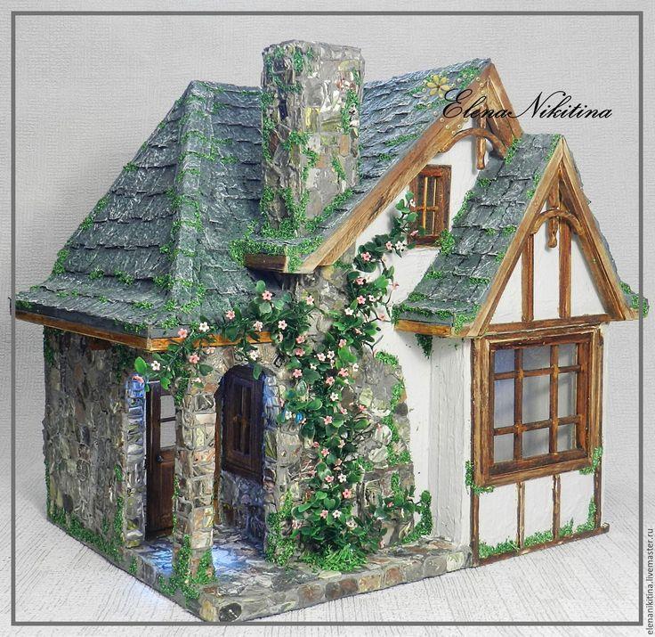 Купить Дом с аркой - комбинированный, кукольный дом, домик, румбокс, сказочный домик, игрушечный домик