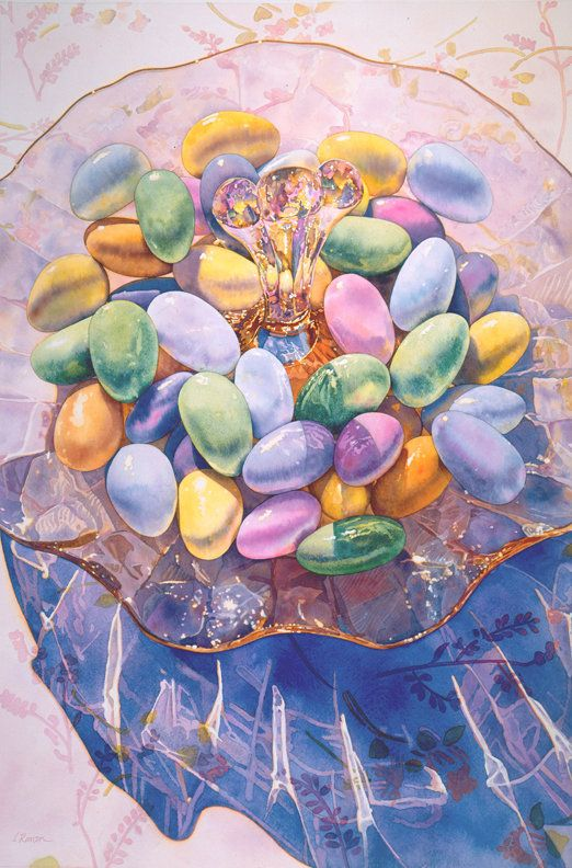Irena Roman - watercolour artist who captures the light through glass