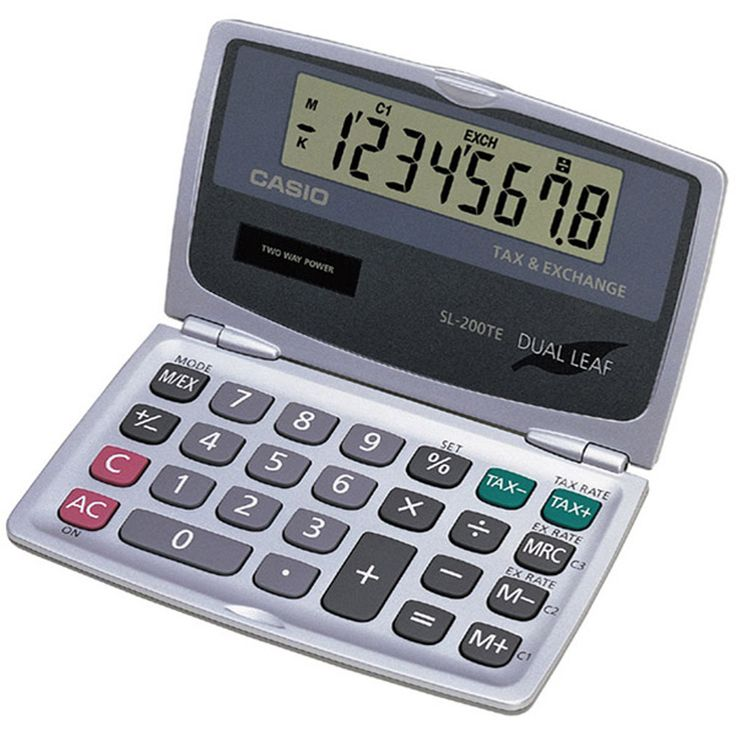 Casio Handheld Foldable Pocket Calculator Products Pinterest