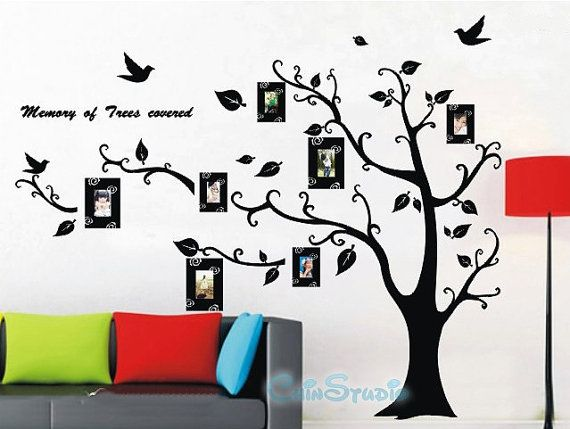 6 5 Feet Tall Bodhi Tree With 7 Photo Frame Vinyl By Chinstudio Wall Ideas Pinterest Best And Stickers