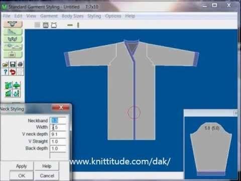 DesignaKnit 8 Standard Garment Tutorial - Design A Knee Length Coat