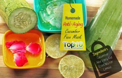 DIY Homemade Anti-Aging Cucumber Face Mask