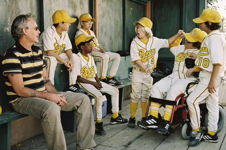 """The Bad News Bears"" movie still, 2005.  The remake that should have never been made.  Go watch the 1976 original with Walter Matthau instead."