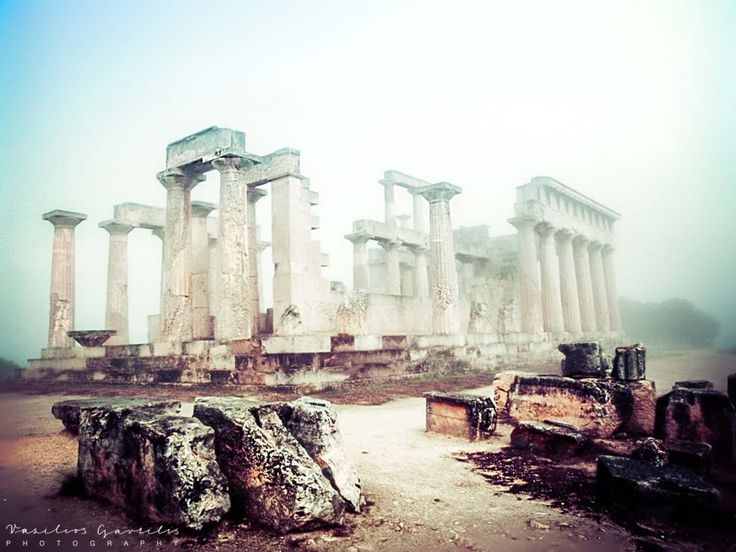 Temple of Aphaea in Fog | PHOTOinPHOTO