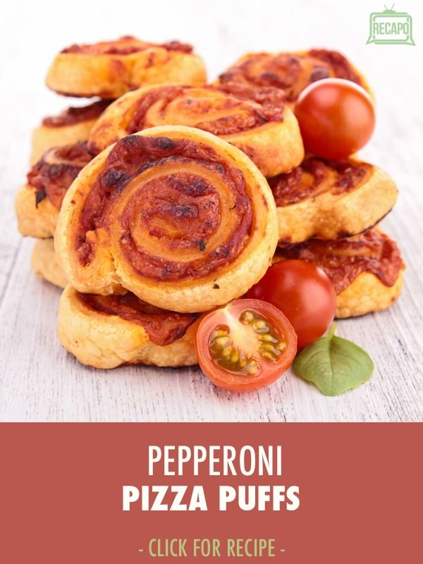 """The Cake Boss himself, Buddy Valastro shared this simle recipe from his new cookbook """"Family Celebrations with the Cake Boss"""". Try out your own Pepperoni pizza Puffs with zucchini, red onion, and tomato"""