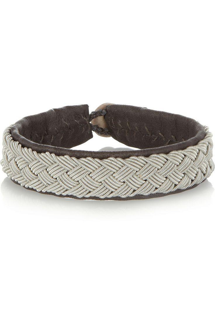 Maria Rudman | Embroidered leather bracelet | NET-A-PORTER.COM