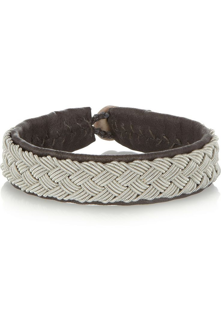 Maria Rudman | Embroidered leather bracelet | NET-A-PORTER.COM
