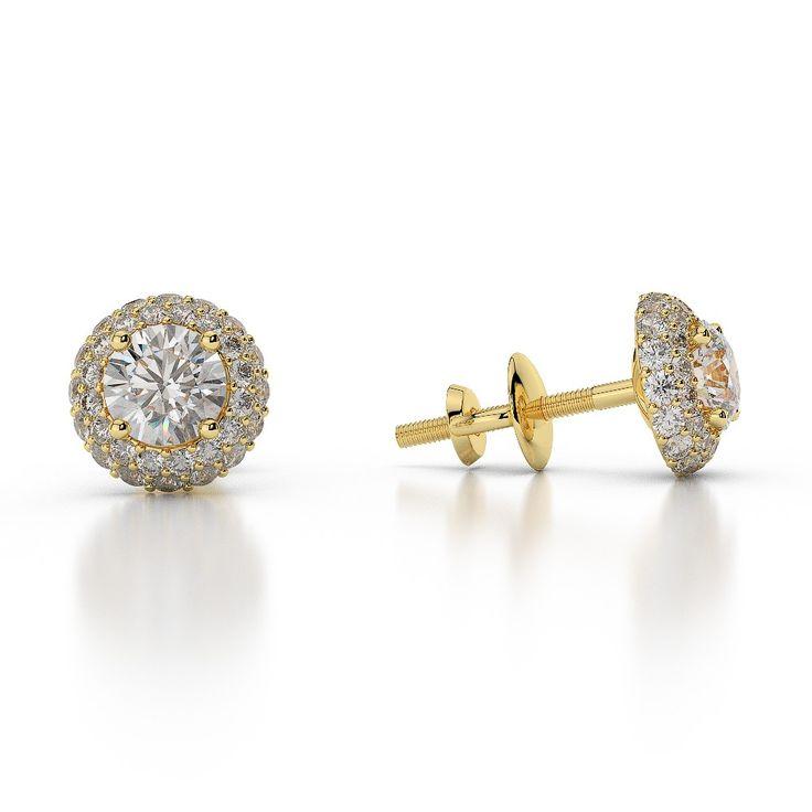 DIAMOND HALO EARRINGS AGER-1012-10