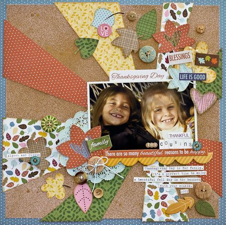 """Bella Blvd. Thankful collection. """"Thankful For Cousins"""" by Diane Payne."""