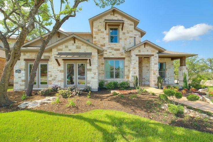 Stone Oak Elevation : Stone elevation wilshire homes austin new