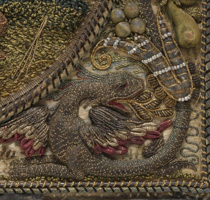 17th century Culture: Flemish Medium: Silk, metal thread and pearls on silk  The Metropolitan Museum of Art