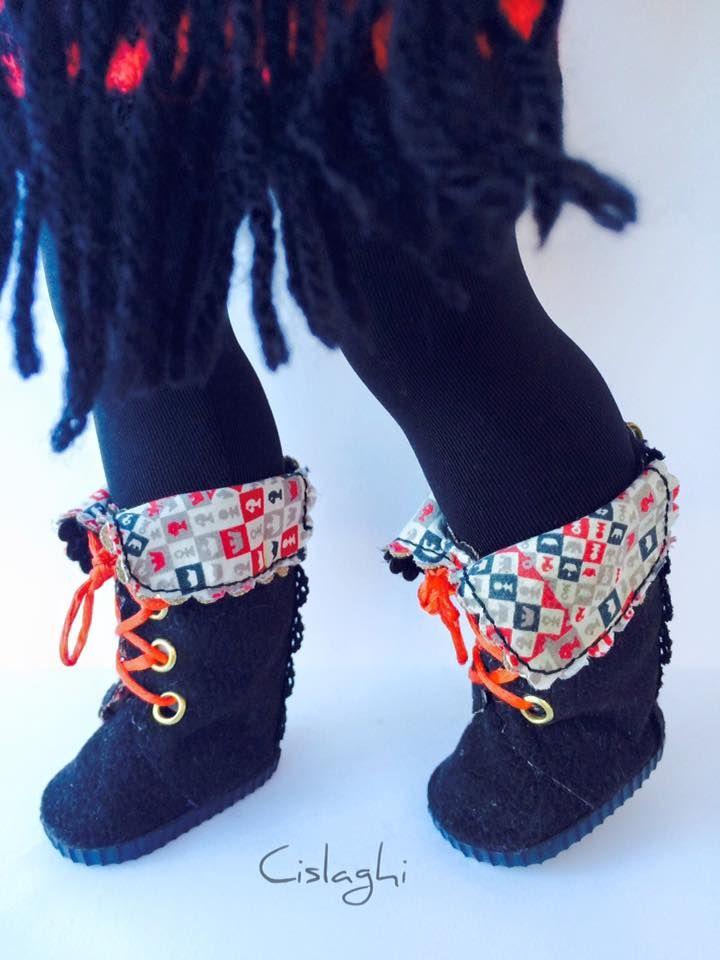 Modelo botas con cremallera