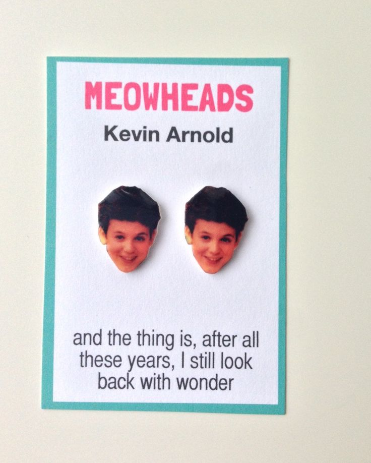 Kevin Arnold  // The Wonder Years stud earrings by MEOWHEADS, $8.00