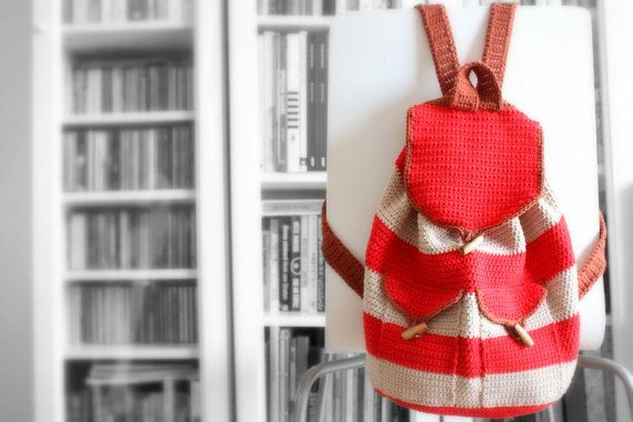 Vintage Backpack crochet pdf pattern INSTANT DOWNLOAD door AlaSascha