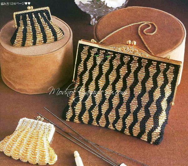 d8ad1007fef4 Как связать спицами сумочку с бисером - Модное вязание | Вязанье ...
