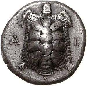 Statere - argento - Isola di Egina, Grecia (375-320 a.C.) - AI, tartaruga terrestre -  Münzkabinett Berlin