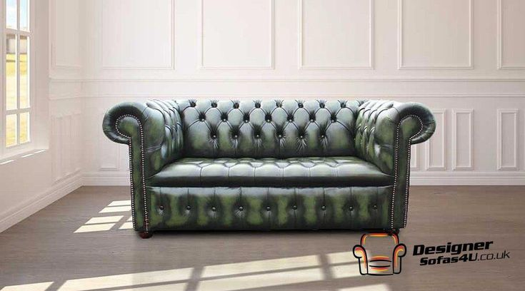 Buy Your Dream Green Leather Chesterfield Settee Online We Sell Green Leather Chesterfield Sofa Green Chesterfield Sofa White Leather Dining Chairs