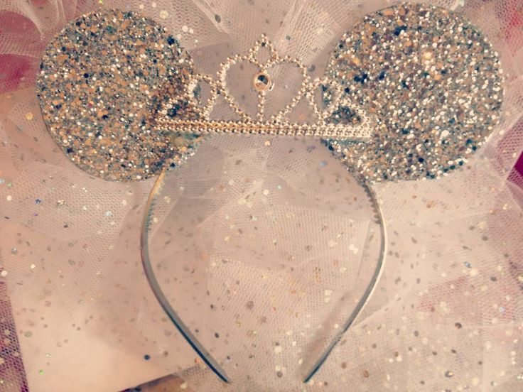 Disney Minnie Mouse Ears with tiara Sparkle Disney by tutufactory, $27.00