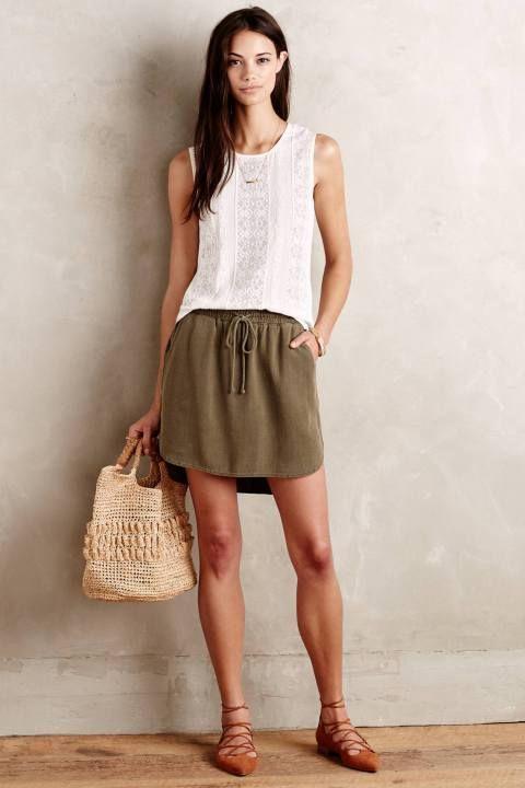 Boardwalk Skirt by Cloth & Stone #anthrofave #anthropologie